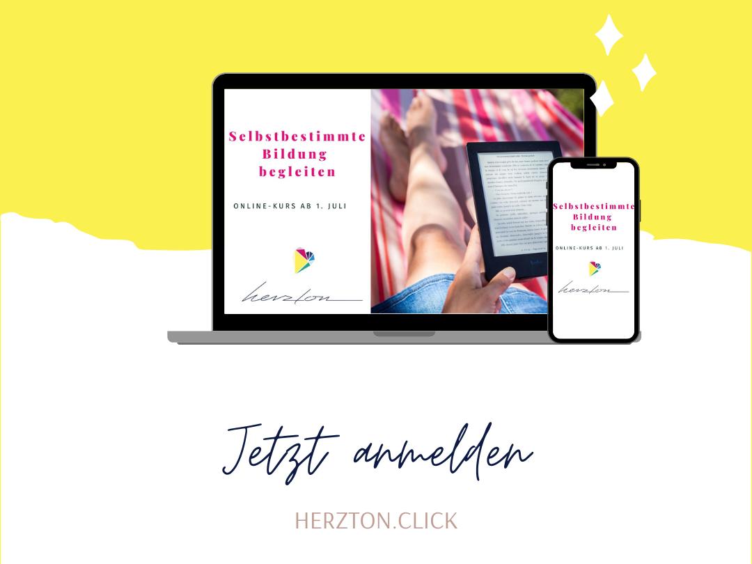 Laptop und Smartphone mit Herzton-Logo und Kursfoto